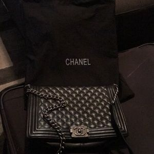 Chanel Calfskin Quilted Flap Black